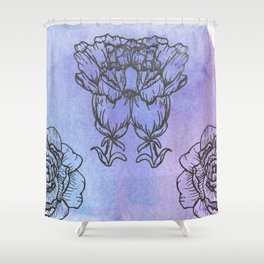 Carnation and Peony Shower Curtain