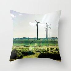 Wind generators Throw Pillow
