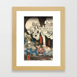 Utagawa Kuniyoshi - Takiyasha the Witch and the Skeleton Spectre Framed Art Print