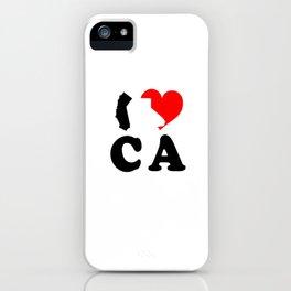 I Love CA iPhone Case