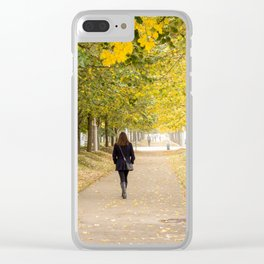 Walking in Autumn Clear iPhone Case