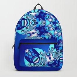 The blue snowflake Backpack