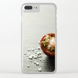 Fresh grape tomatoes with salt Clear iPhone Case