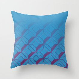 Squares in Blue Throw Pillow