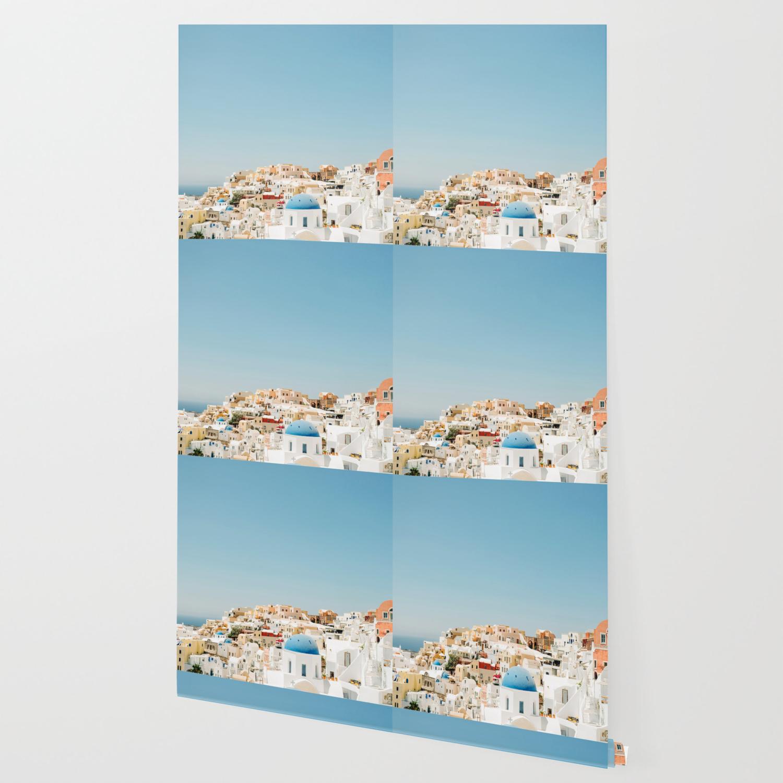 View Of Santorini Island Greece Oia Wallpaper