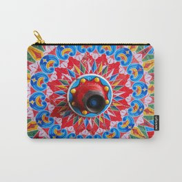 Hand painted wheel Carry-All Pouch