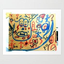 Mushroom Man on Boost Art Print