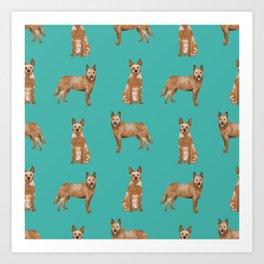 Australian Cattle Dog red heeler love dog breed gifts cattle dogs by pet friendly Art Print