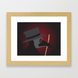 Doctor Beak Framed Art Print