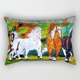 Galloping horses of the wild Rectangular Pillow