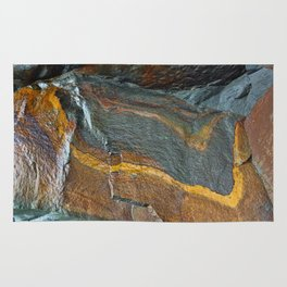 Abstract rock art Rug