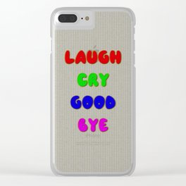 Laugh Cry Good Bye - Knitting Style Clear iPhone Case