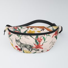 Floral Fox Fanny Pack