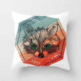 Racoon Cute Throw Pillow