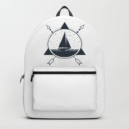 Adventure. Nautical. Ship Backpack