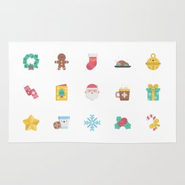 CUTE CHRISTMAS HOLIDAYS WINTER PATTERN Rug