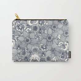 springtime flowers indigo Carry-All Pouch