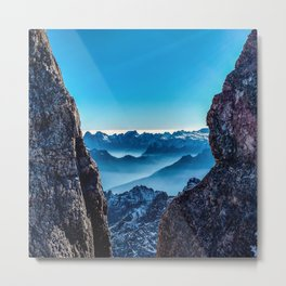 Moutain sky ice blue Metal Print