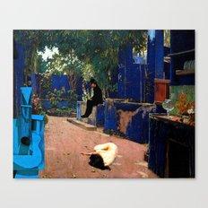 the blue guitar Canvas Print