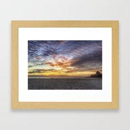 Good Harbor Beach Sunrise Framed Art Print