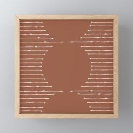 Geometric Lines / Terracotta Framed Mini Art Print