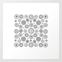 ditsy cirlces Art Print