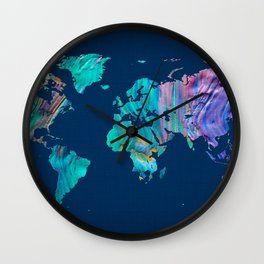 World Map 13 Wall Clock