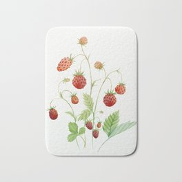 Wild Strawberries Bath Mat