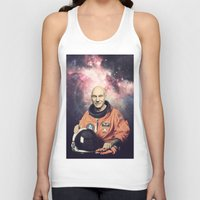 picard Tank Tops featuring Captain Picard - Astronaut in Space by Nicholas Redfunkovich