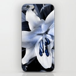Blue light lily iPhone Skin