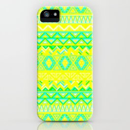India Style Pattern (Neon) iPhone Case