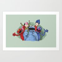 cookie monster Art Prints featuring cookie monster by ErsanYagiz