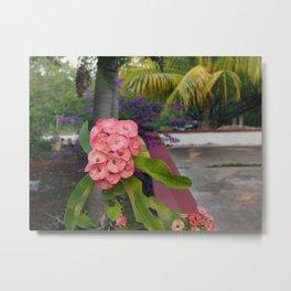 Flowers at Uxmal II Metal Print