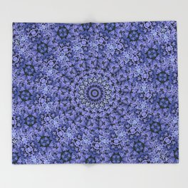 Purple Sprials Throw Blanket
