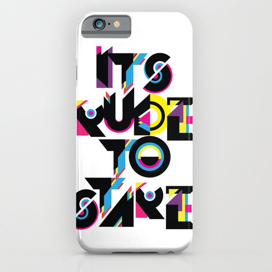 It's Rude To Stare iPhone & iPod Case