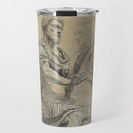 Vintage Marcus Aurelius on Horseback Illustration Travel Mug