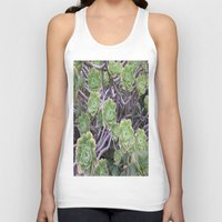 succulents Tank Tops featuring Succulents by AM Prono