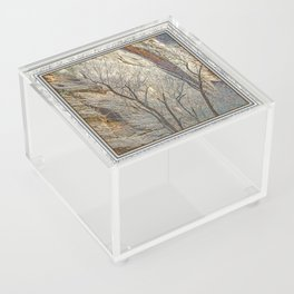 CANYON LACE IN ORANGE AND BLUE Acrylic Box