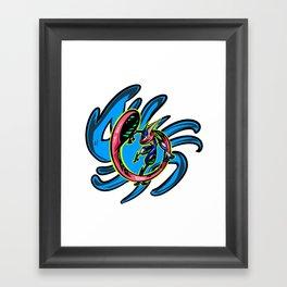 WATER SHURIKEN Framed Art Print