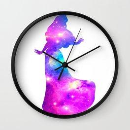 Princess Aurora Galaxy Wall Clock