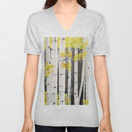 Birch Tree Unisex V-Neck