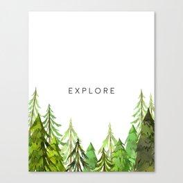 Explore, Printable Wall Decor, Wall Art Print, Black And White, Printable Art Canvas Print
