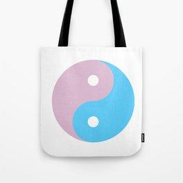 Transgender Yin Yang Symbol Tote Bag