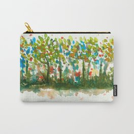 Silent Woods, Abstract Watercolors Landscape Art Carry-All Pouch