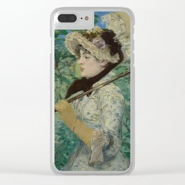 Edouard Manet - Spring Clear iPhone Case