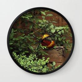 Golden Pheasant Wall Clock