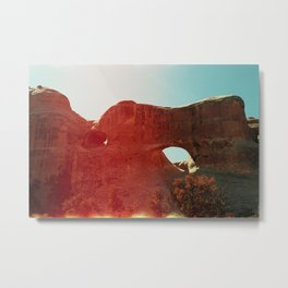 Light Flare / North of Moab on 35mm Metal Print