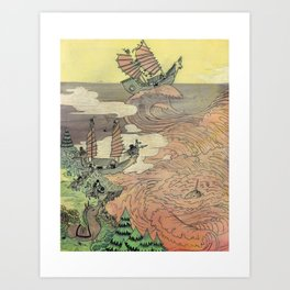 Mu Guai and the Tiger's Eye, Panel 2 Art Print