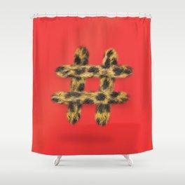 Cheetah the lone hashtag Shower Curtain