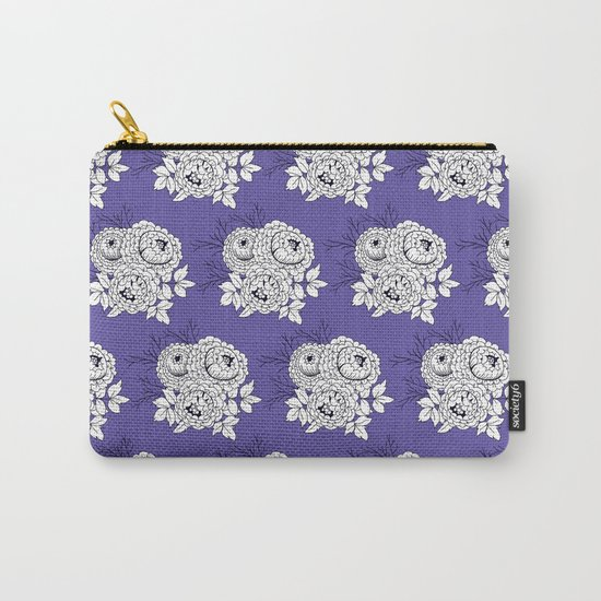 Rose bouquets floral pattern Carry-All Pouch
